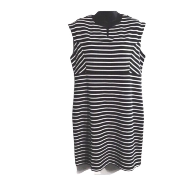 attention Dresses & Skirts - Attention Striped Black and White Dress